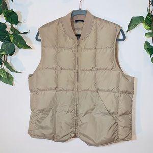 Vintage Eddie Bauer Goose Down Tan Puffer Vest